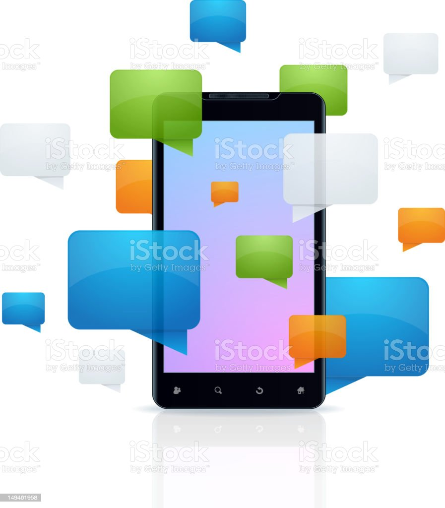 Messaging concept royalty-free stock photo