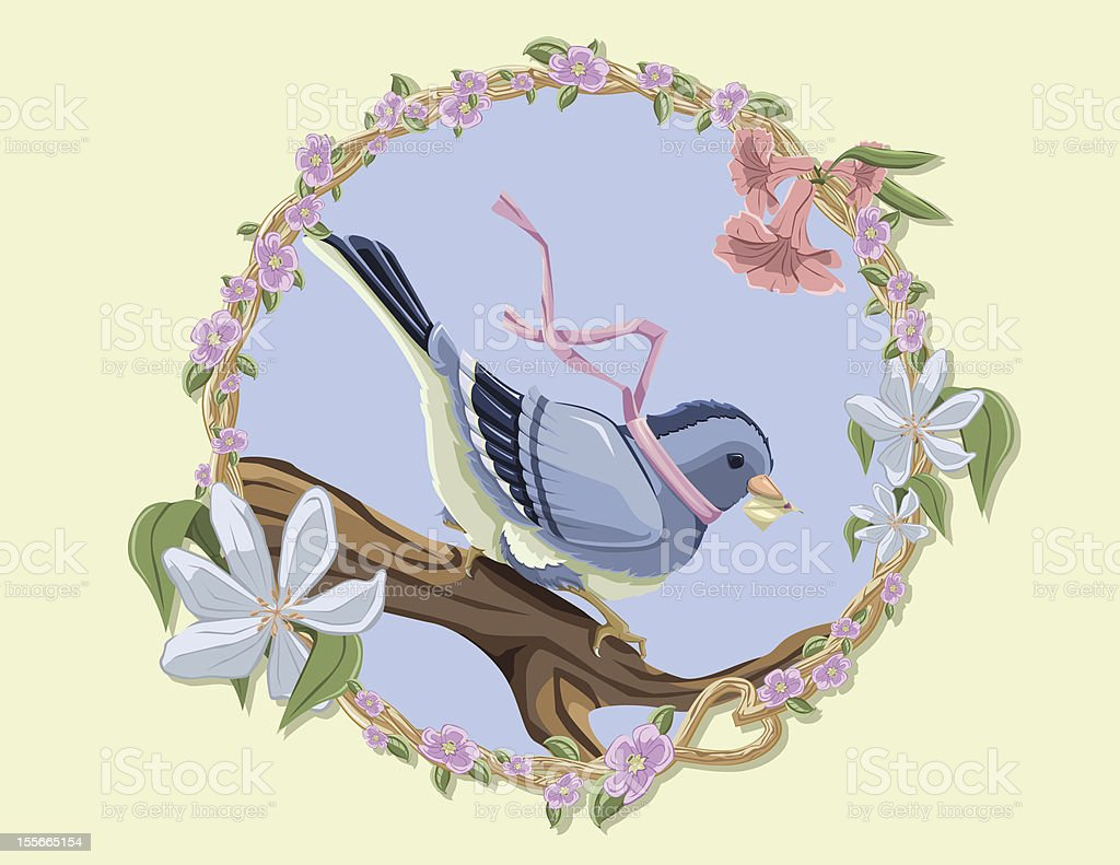 Messenger Blue Bird royalty-free stock vector art