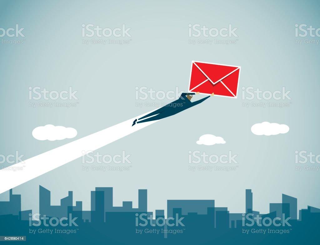 Messenger vector art illustration
