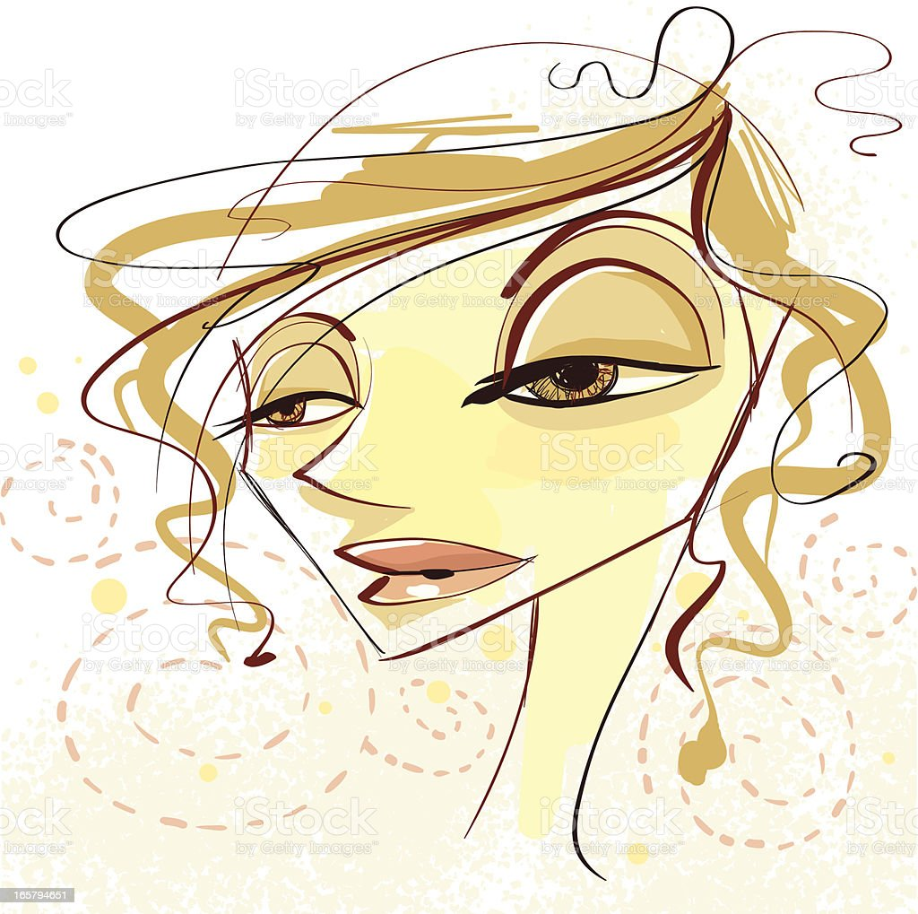 Messy Gal royalty-free stock vector art