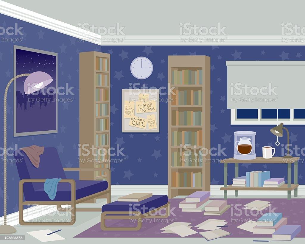 Messy Room vector art illustration