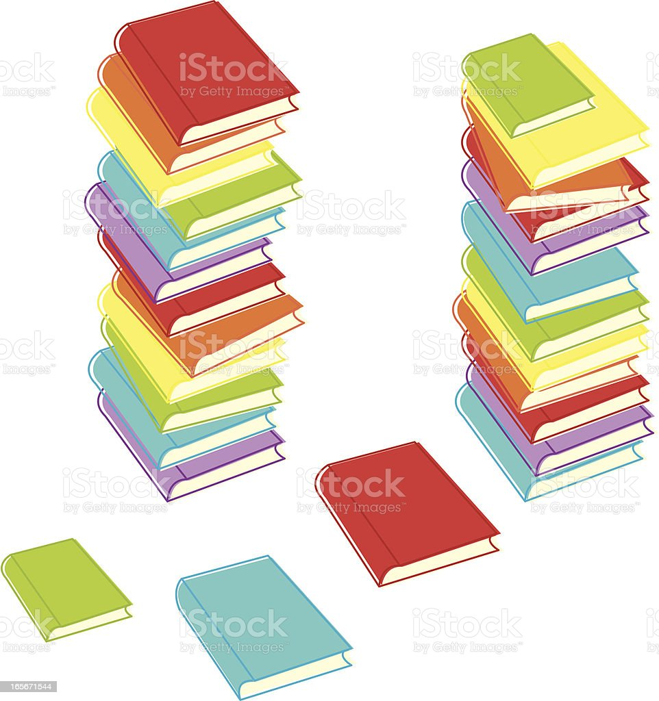 Messy Stacks of Books royalty-free stock vector art