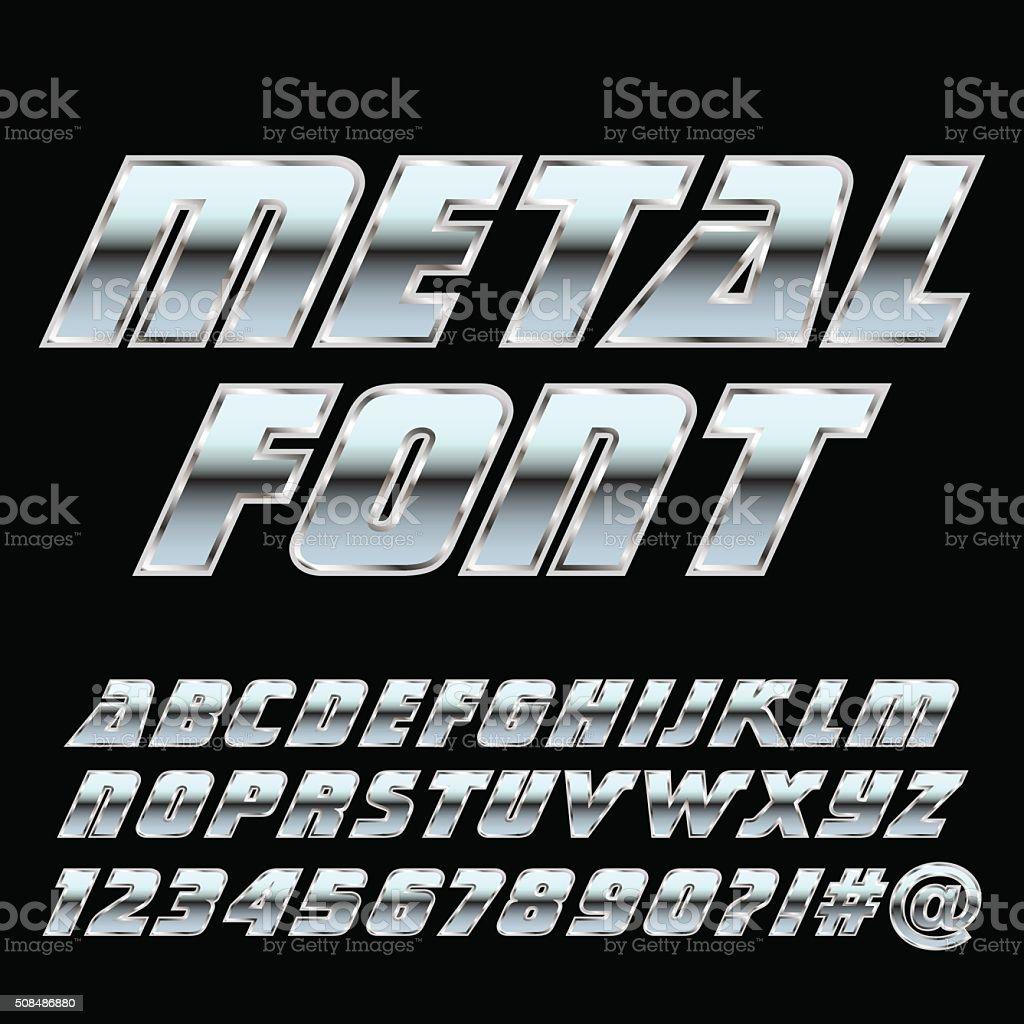 Metal alphabet and symbols . Vector eps10. vector art illustration