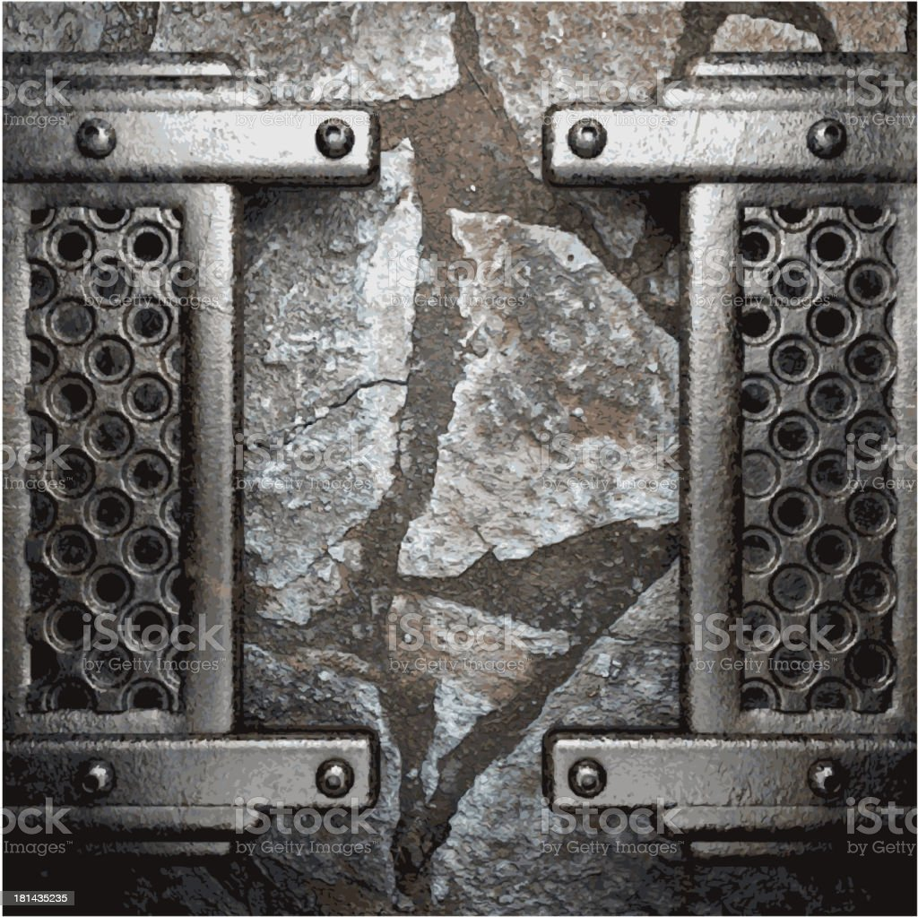 metal and stone background royalty-free stock vector art