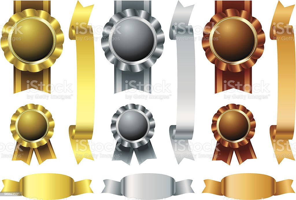 Metal awards set royalty-free stock vector art