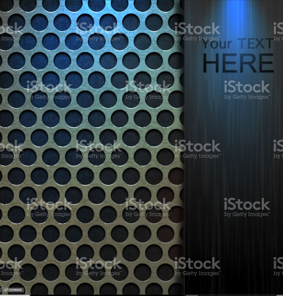 Metal Background and Glass royalty-free stock vector art