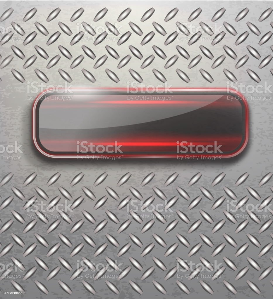 Metal Background and Glass vector art illustration