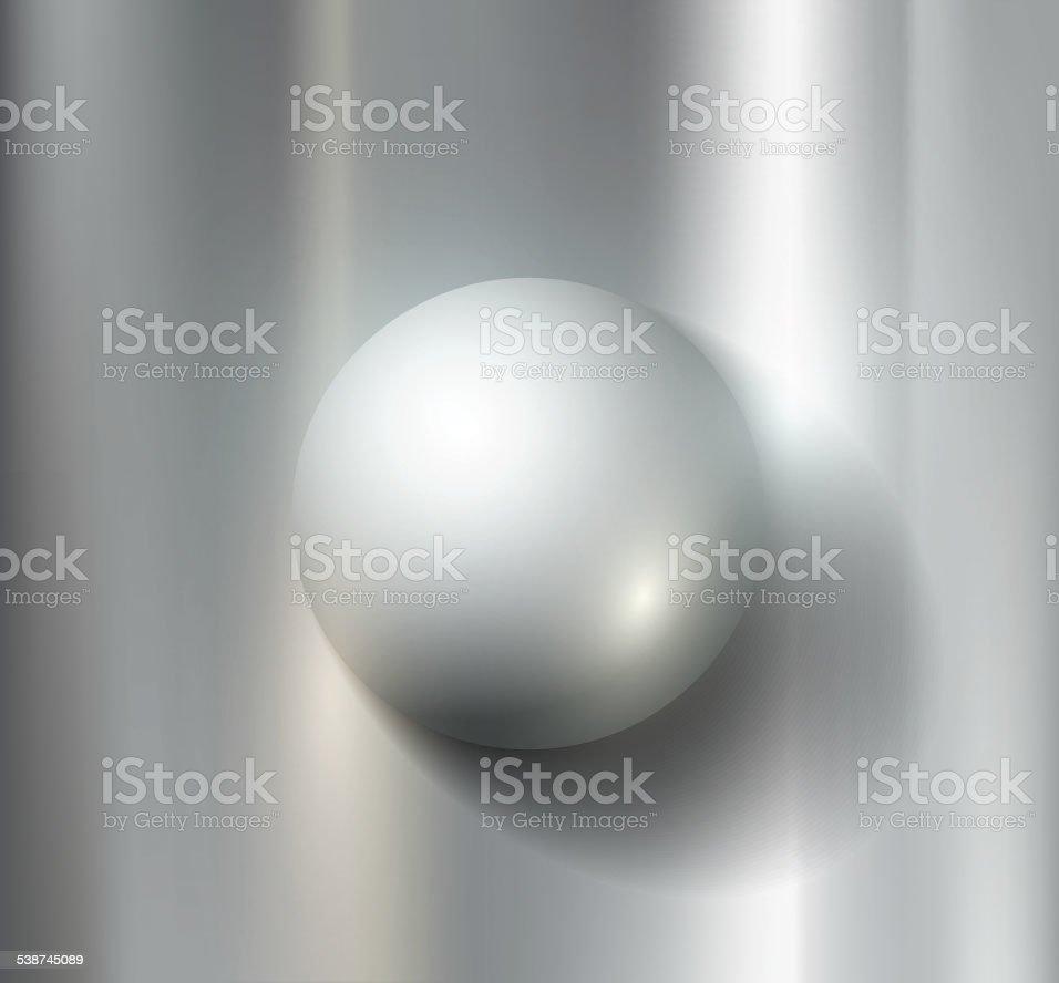 metal ball vector art illustration