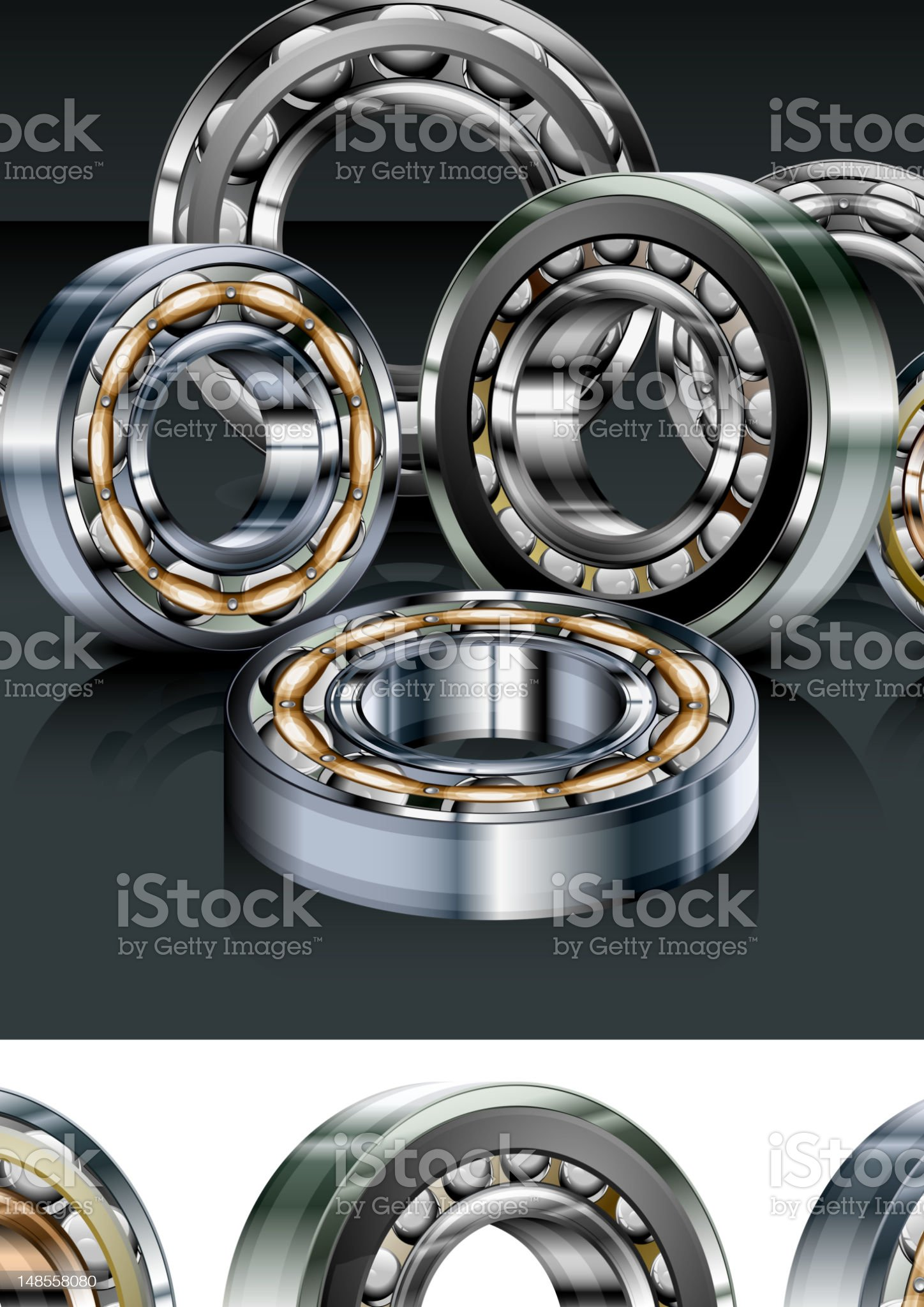 Metal bearings royalty-free stock vector art