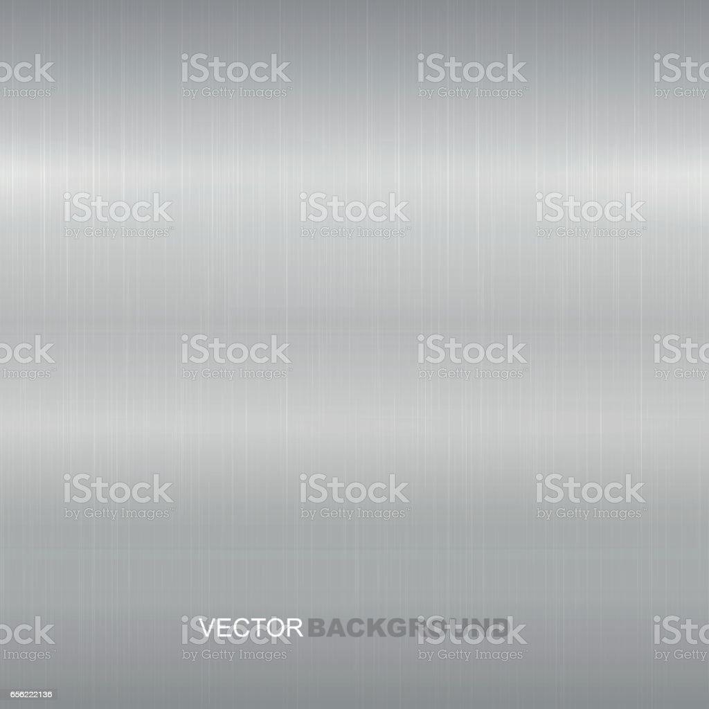 Metal brushed vector texture. Bright metallic surface.