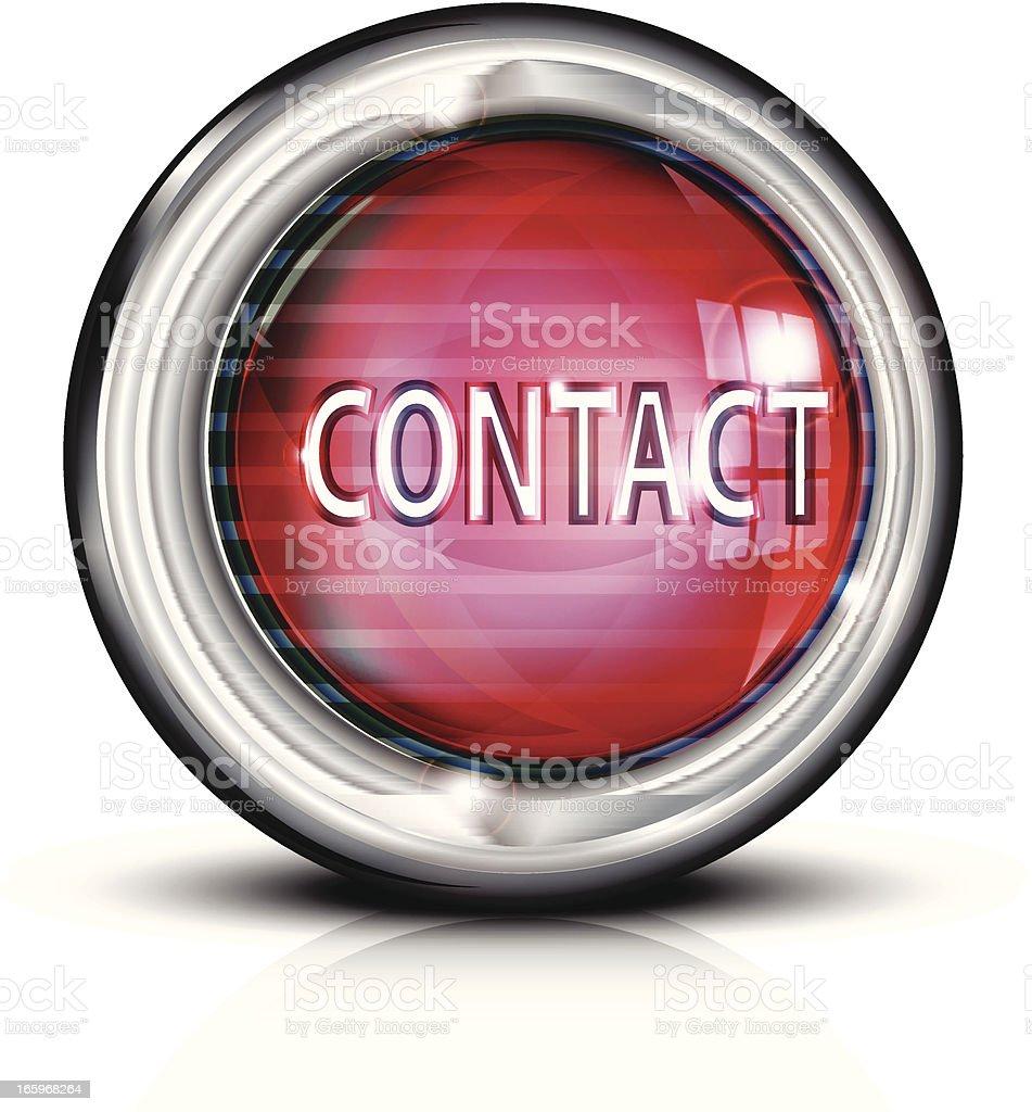 Metal Button | Contact royalty-free stock vector art