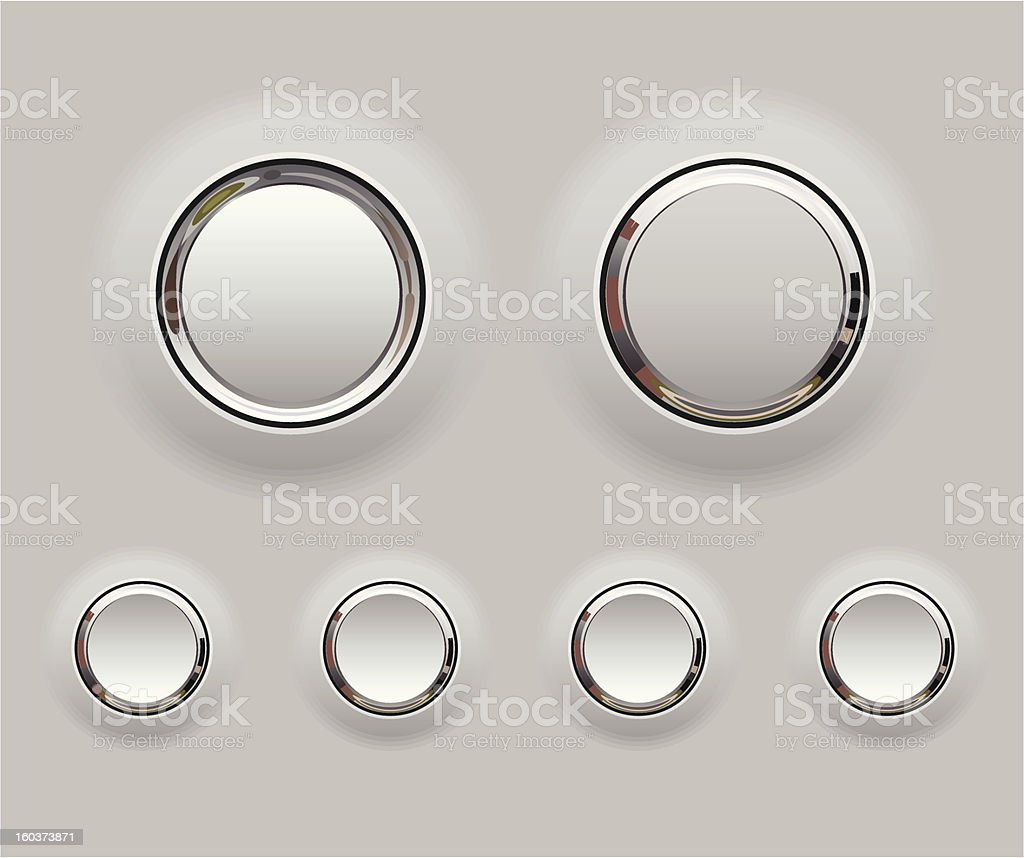 Metal buttons vector art illustration