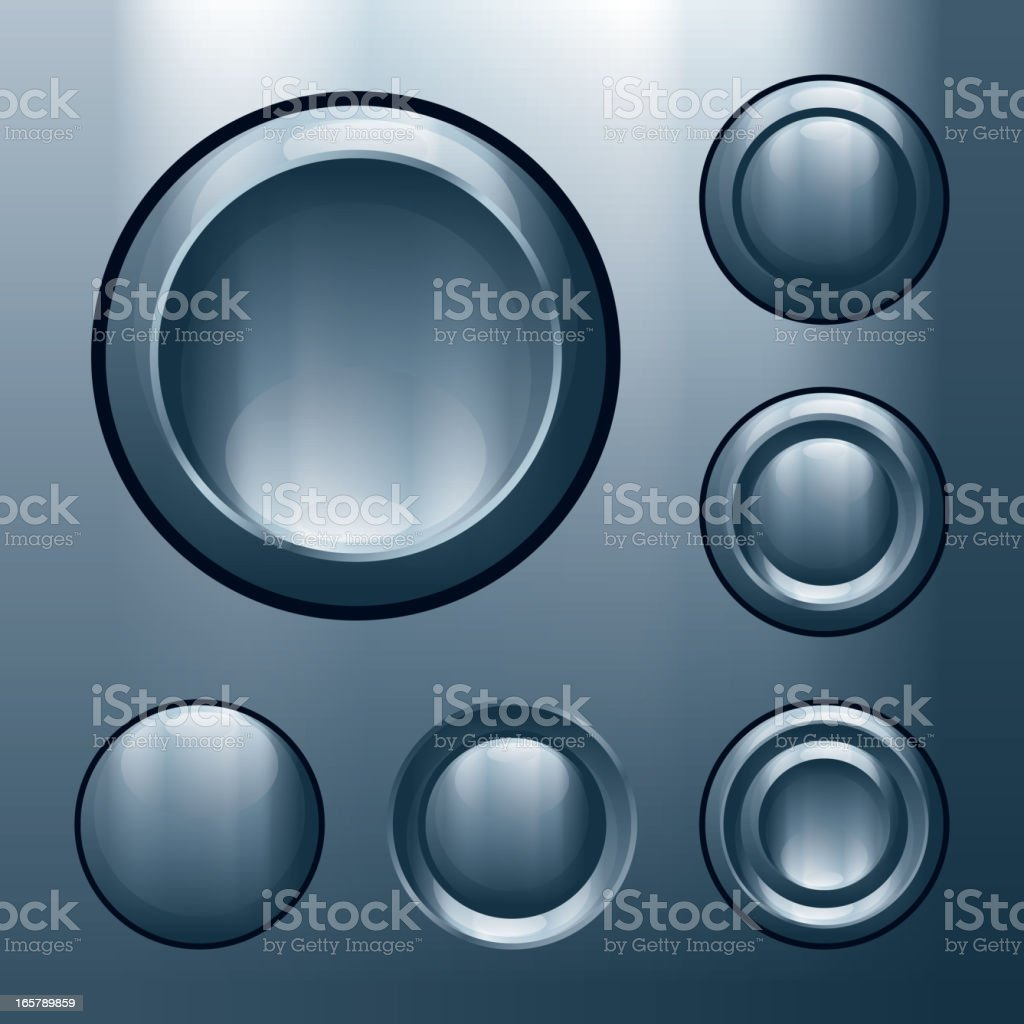 Metal buttons royalty-free stock vector art