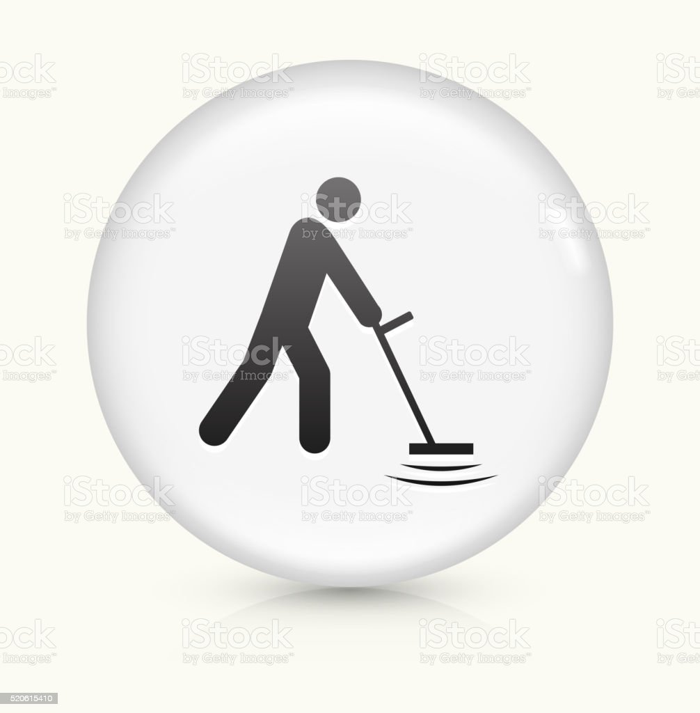 Metal Detector icon on white round vector button vector art illustration