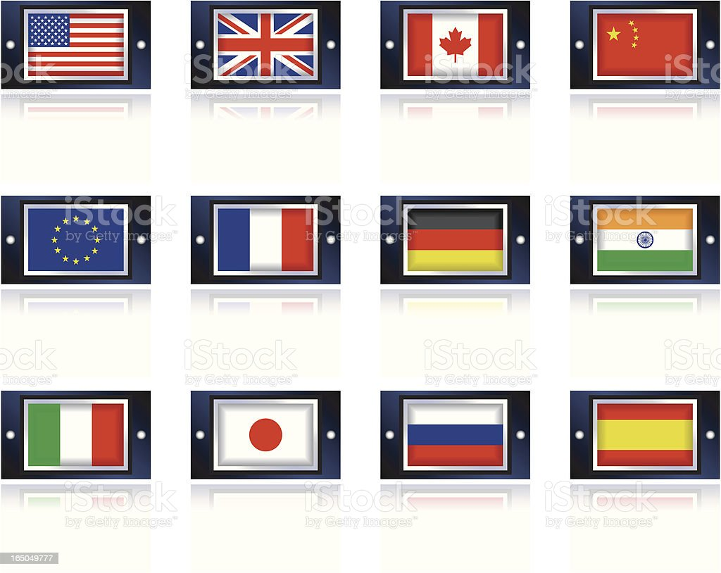 Metal Flags royalty-free stock vector art