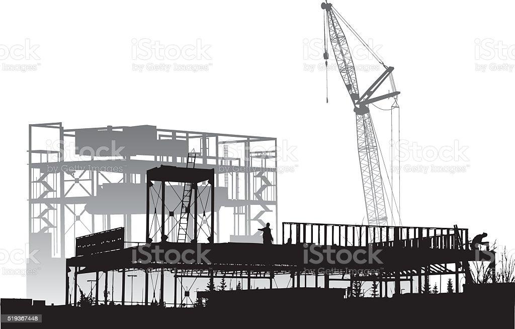 Metal Frame Construction vector art illustration