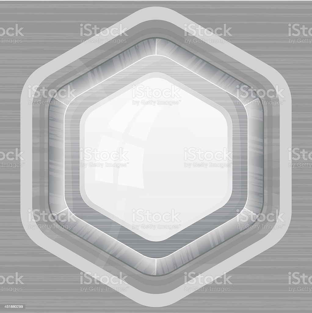Metal frame royalty-free stock vector art