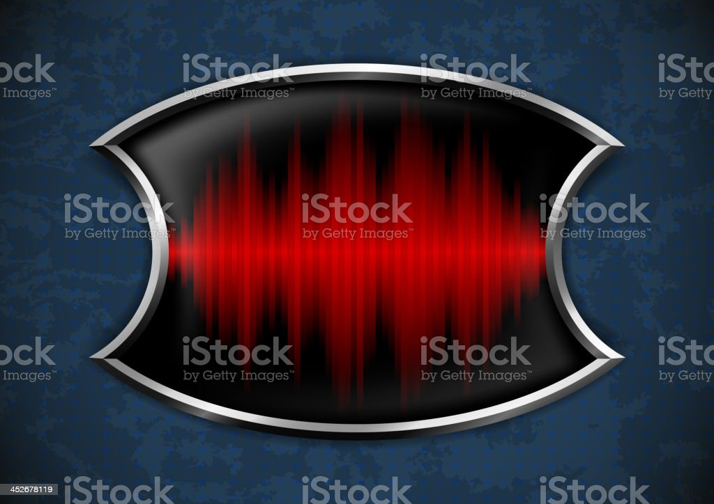 Metal frame with sound wave royalty-free stock vector art
