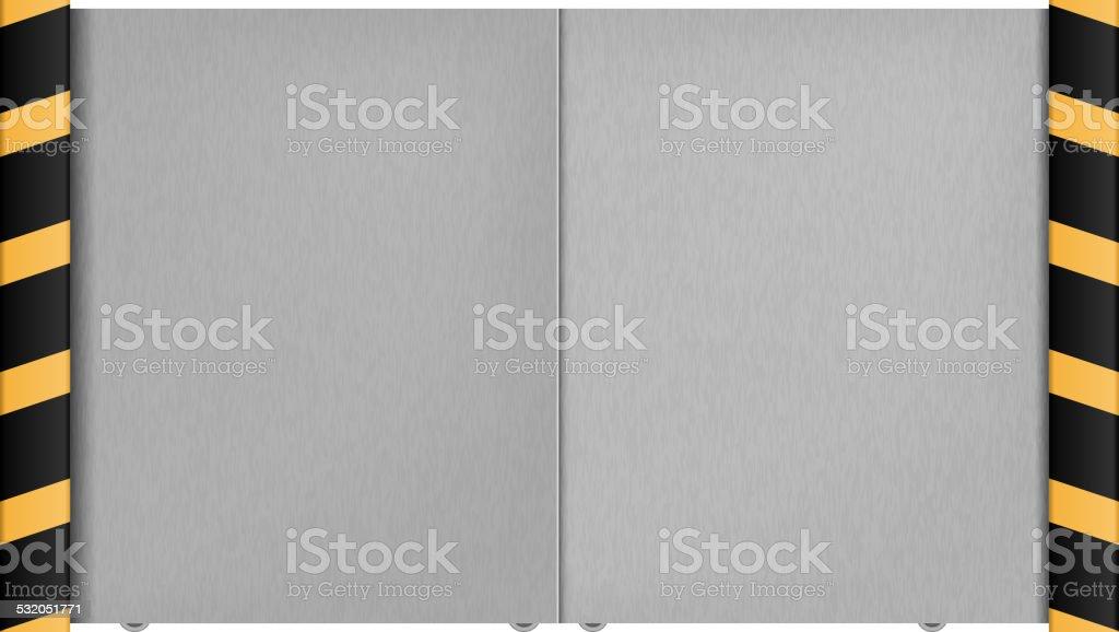 Metal gate on a white background. Vector illustration vector art illustration