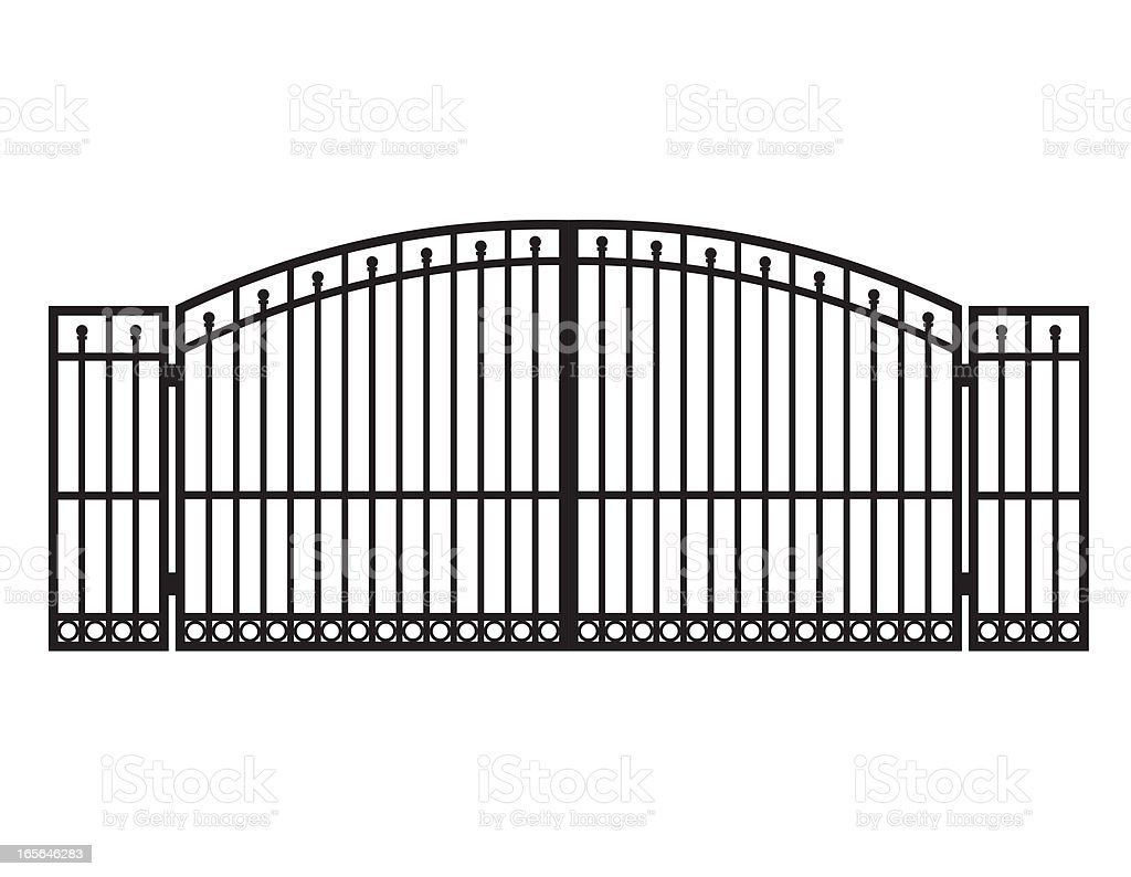 Metal Gate vector art illustration