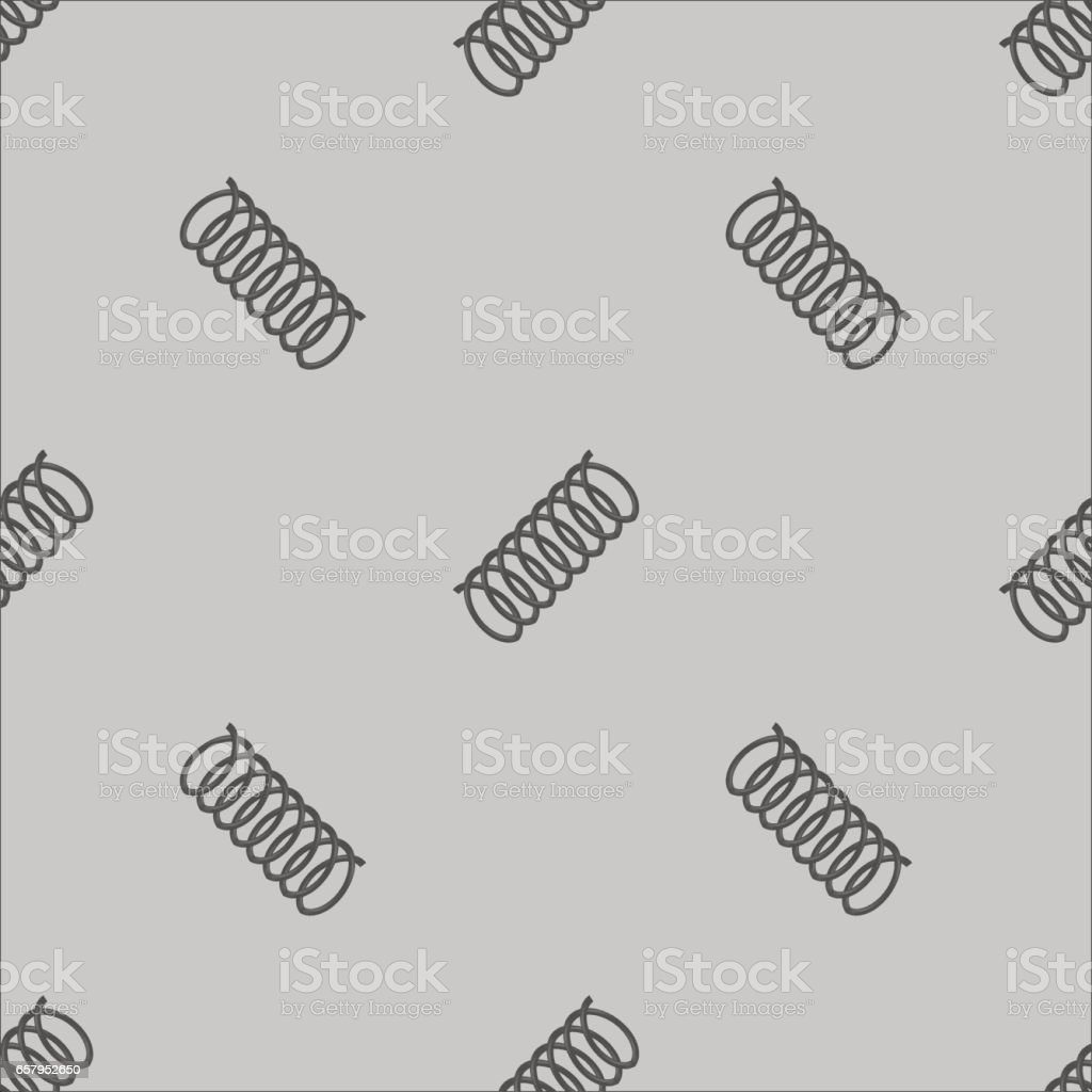 Metal Grey Spring Isolated on White Background vector art illustration