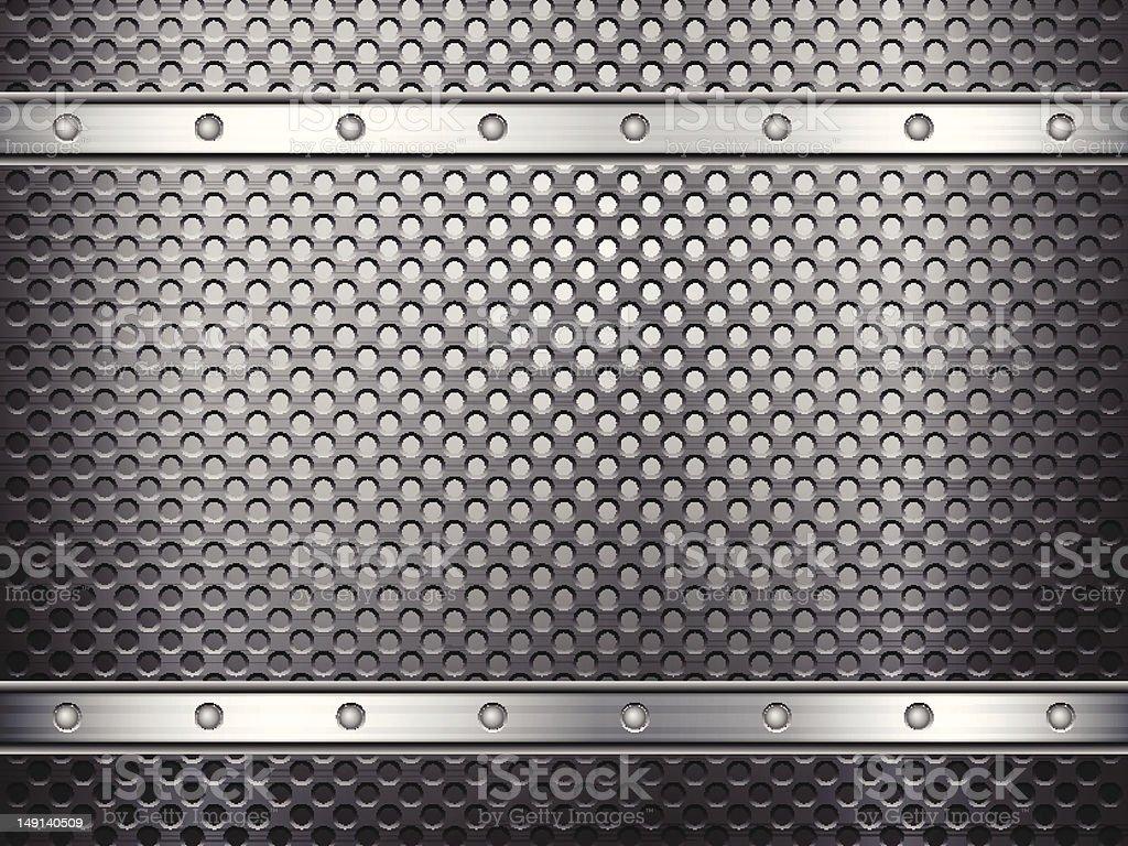 metal grid background vector art illustration