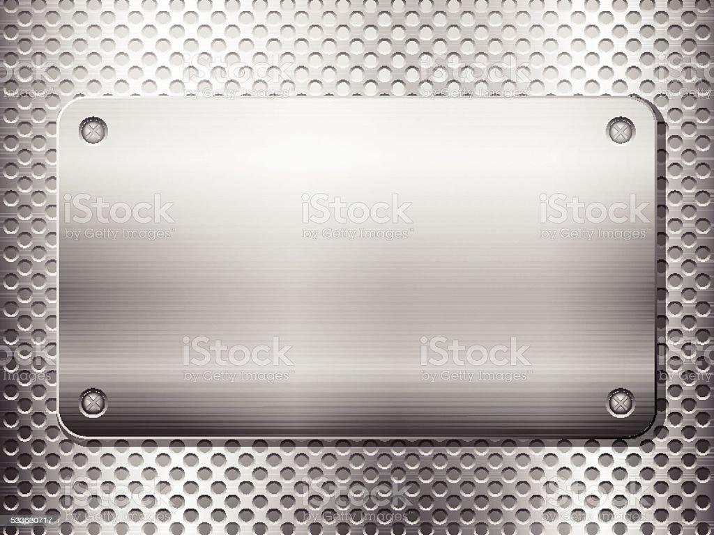 metal grid square plate vector art illustration