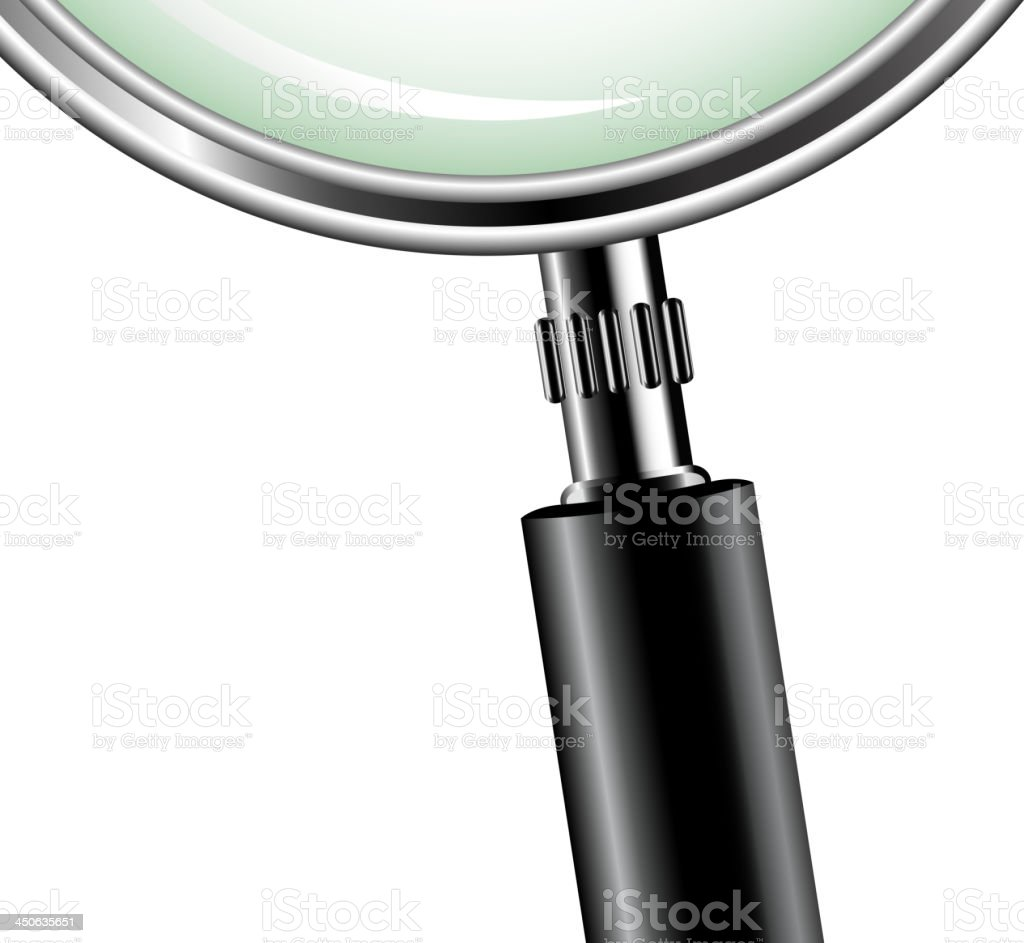 metal magnifying glass royalty-free stock vector art