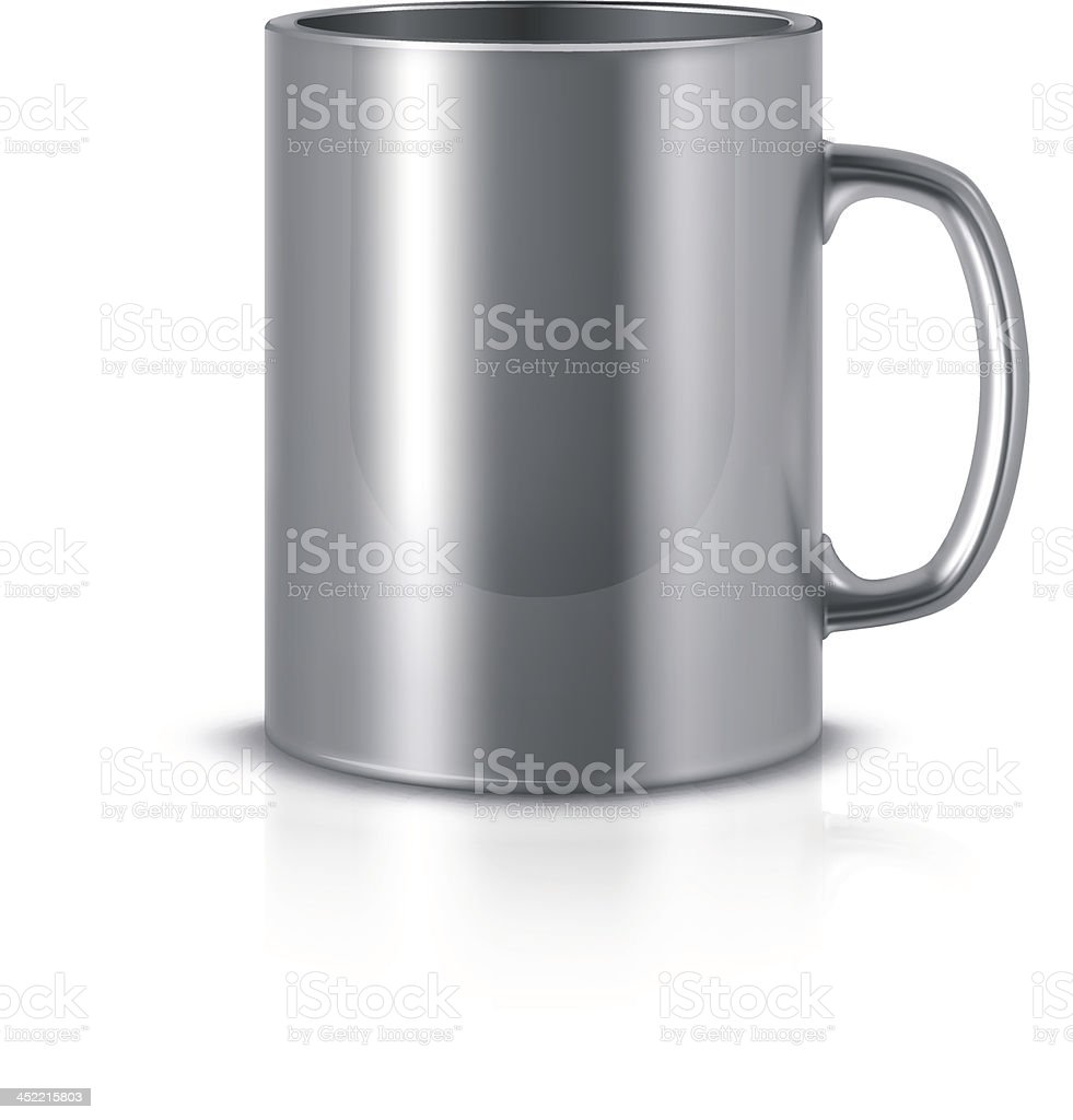 Metal mug vector art illustration