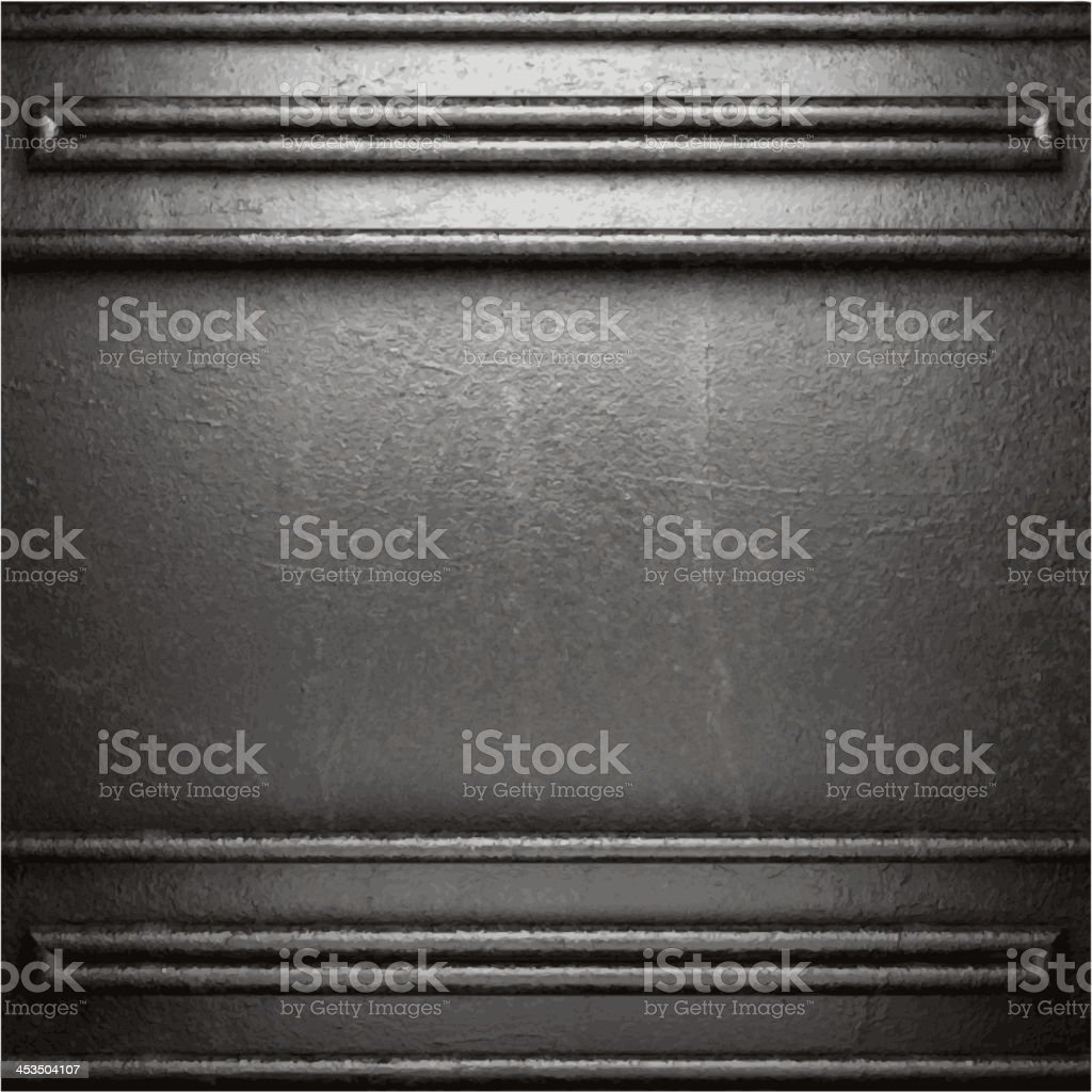 metal on wall background vector art illustration
