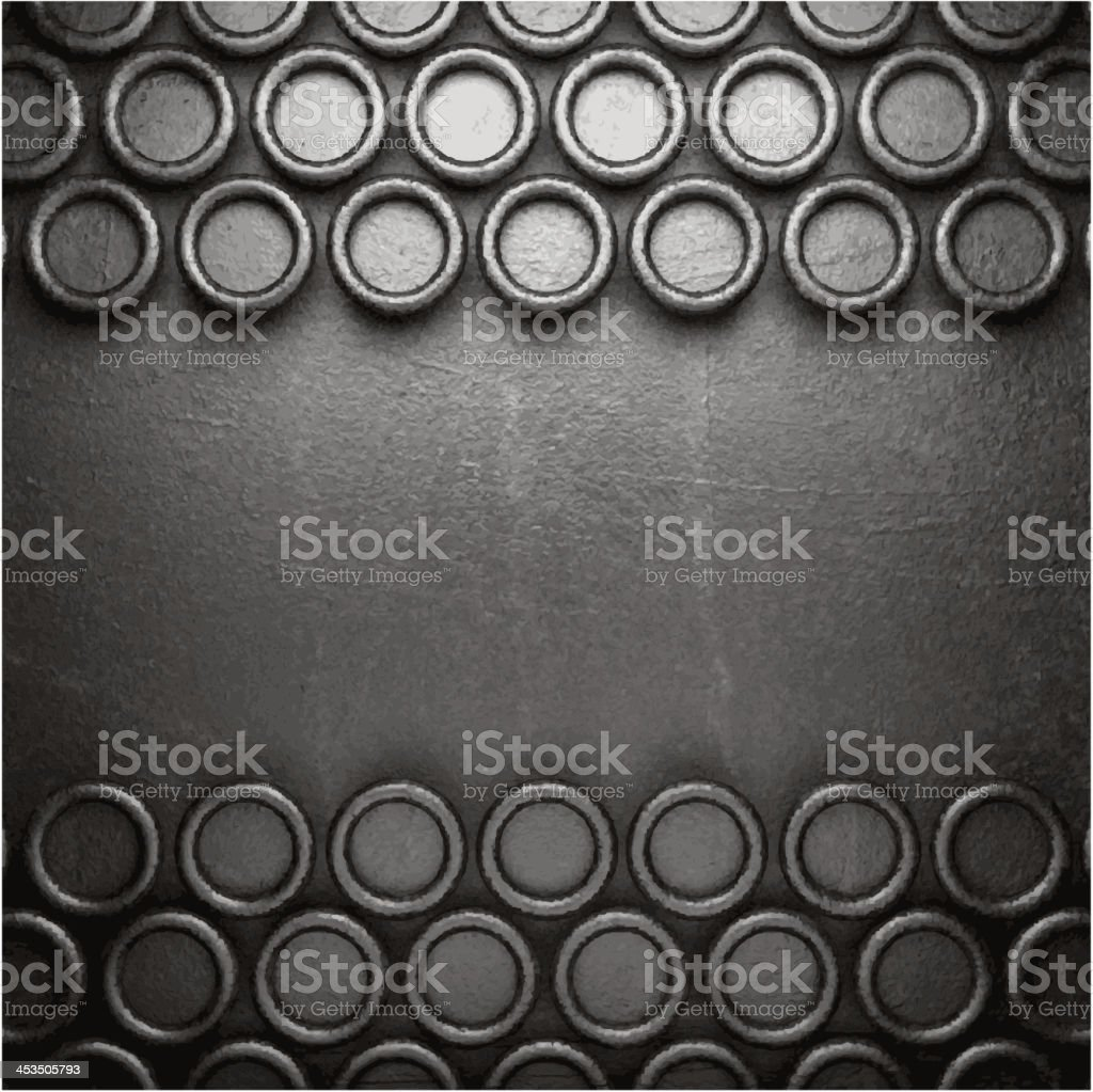 metal on wall background royalty-free stock vector art