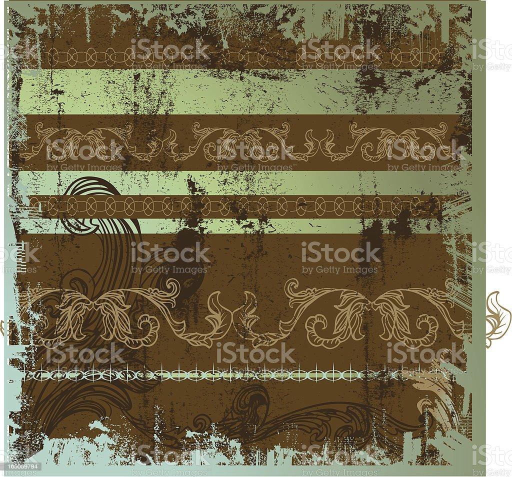 Metal Ornate Grunge royalty-free stock vector art
