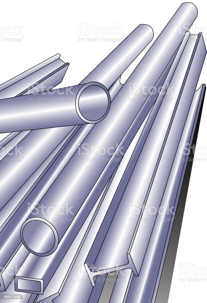 Metal pipe royalty-free stock vector art