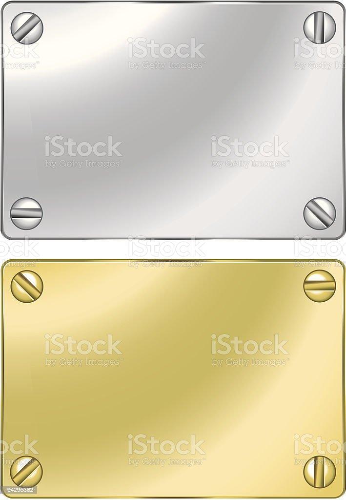 Metal plaque royalty-free stock vector art