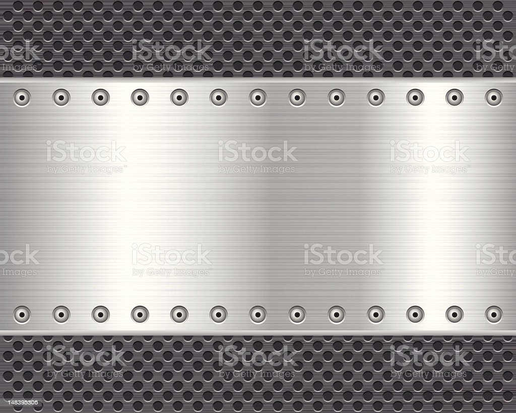 metal plate background vector art illustration