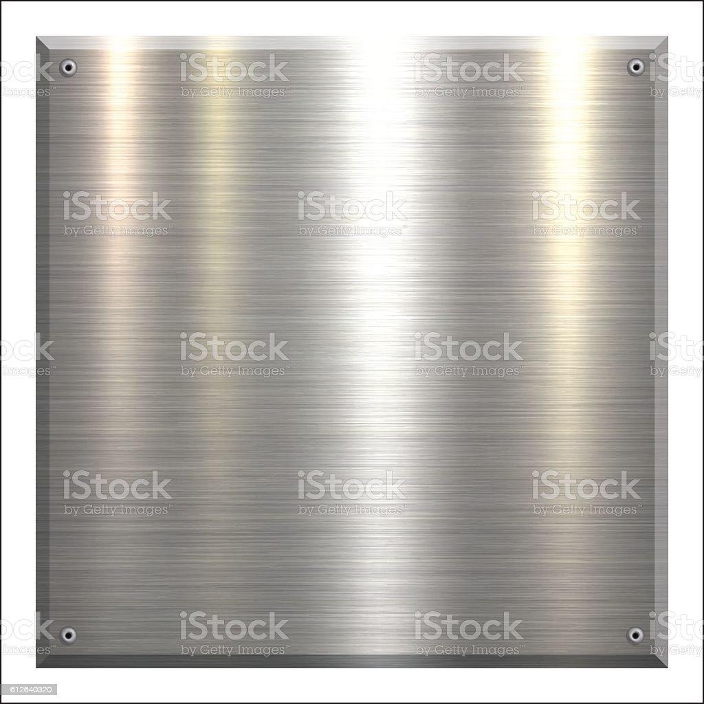 Metal Plate - Brushed metal background vector art illustration