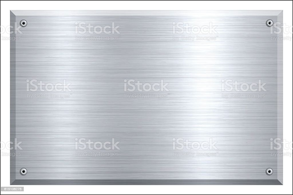 Metal Plate - Brushed metal background vector art illustration