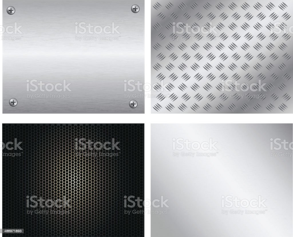 Metal Plate Collection vector art illustration