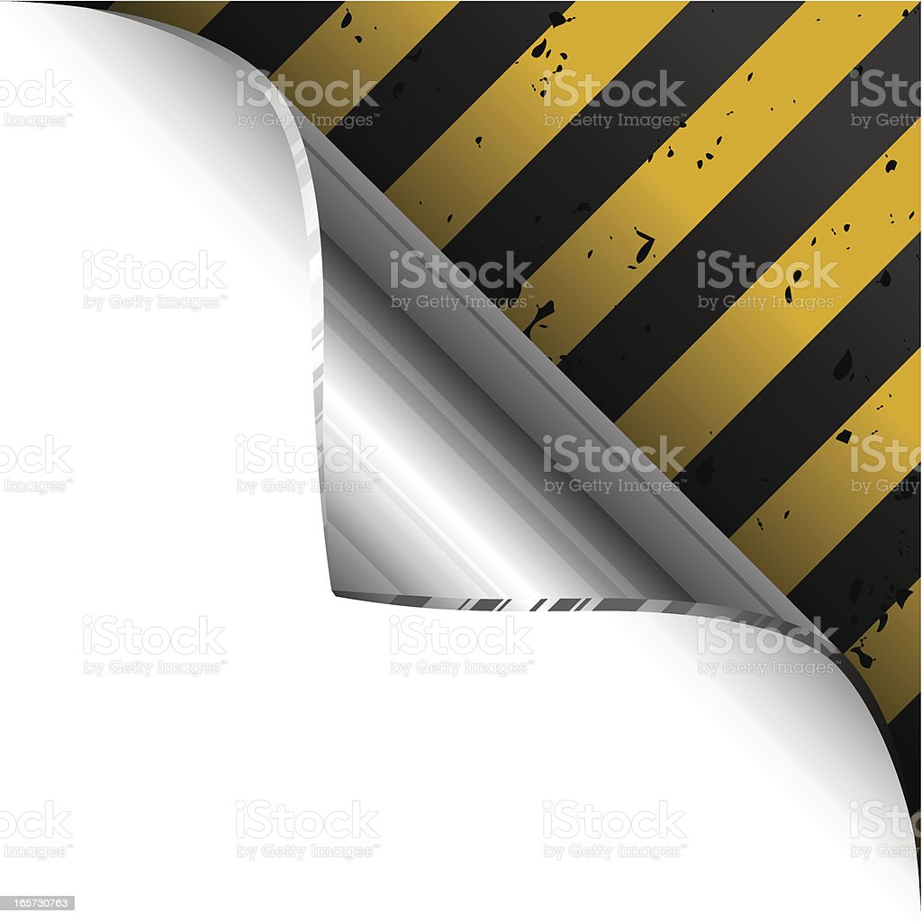 Metal Plate Curl royalty-free stock vector art