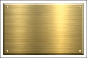 Metal Plate Gold - Brushed metal background