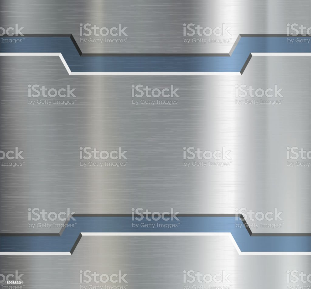 Metal plate with ornament. vector art illustration
