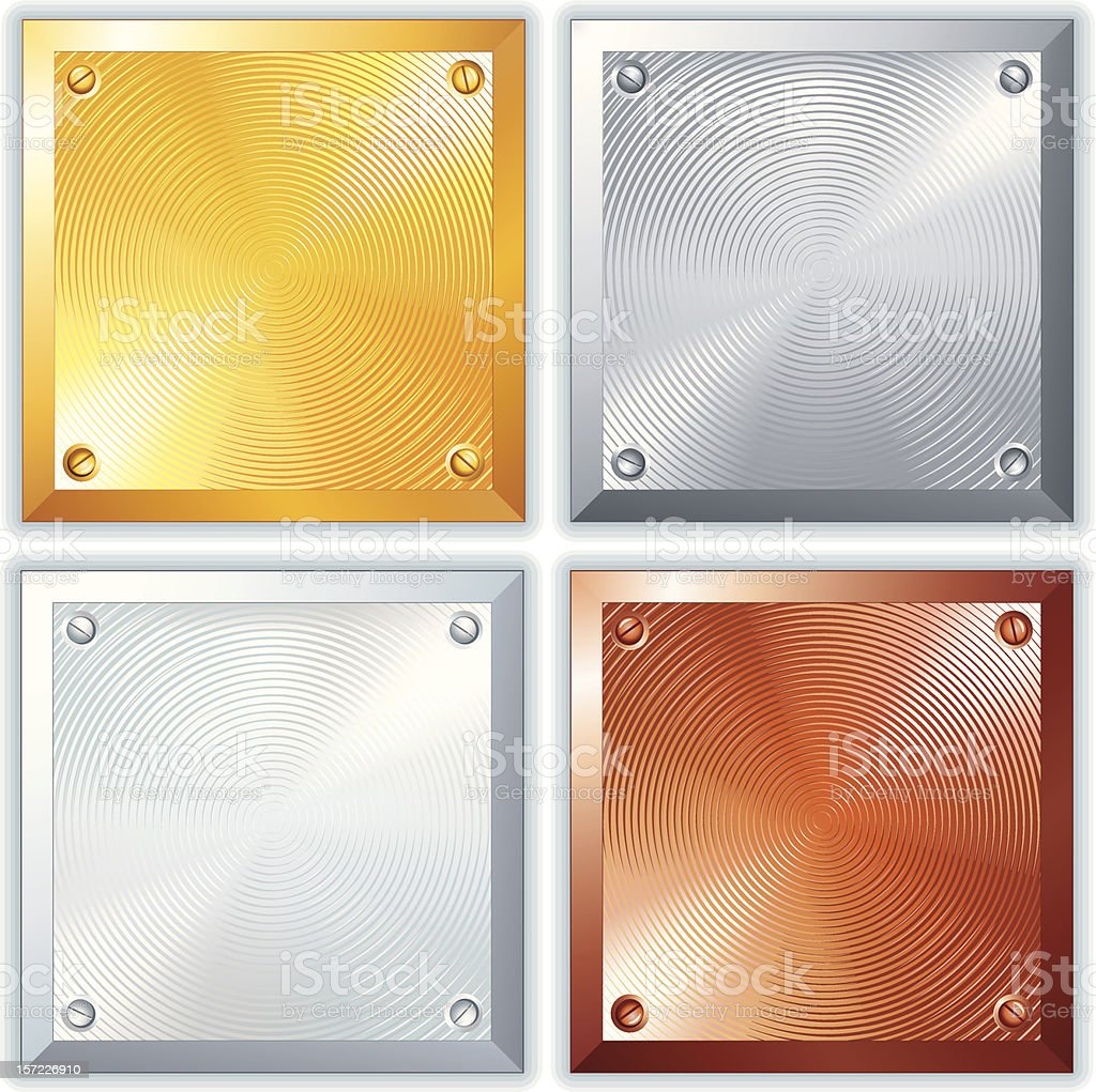 Metal Plates. Vector Image Eps10 royalty-free stock vector art