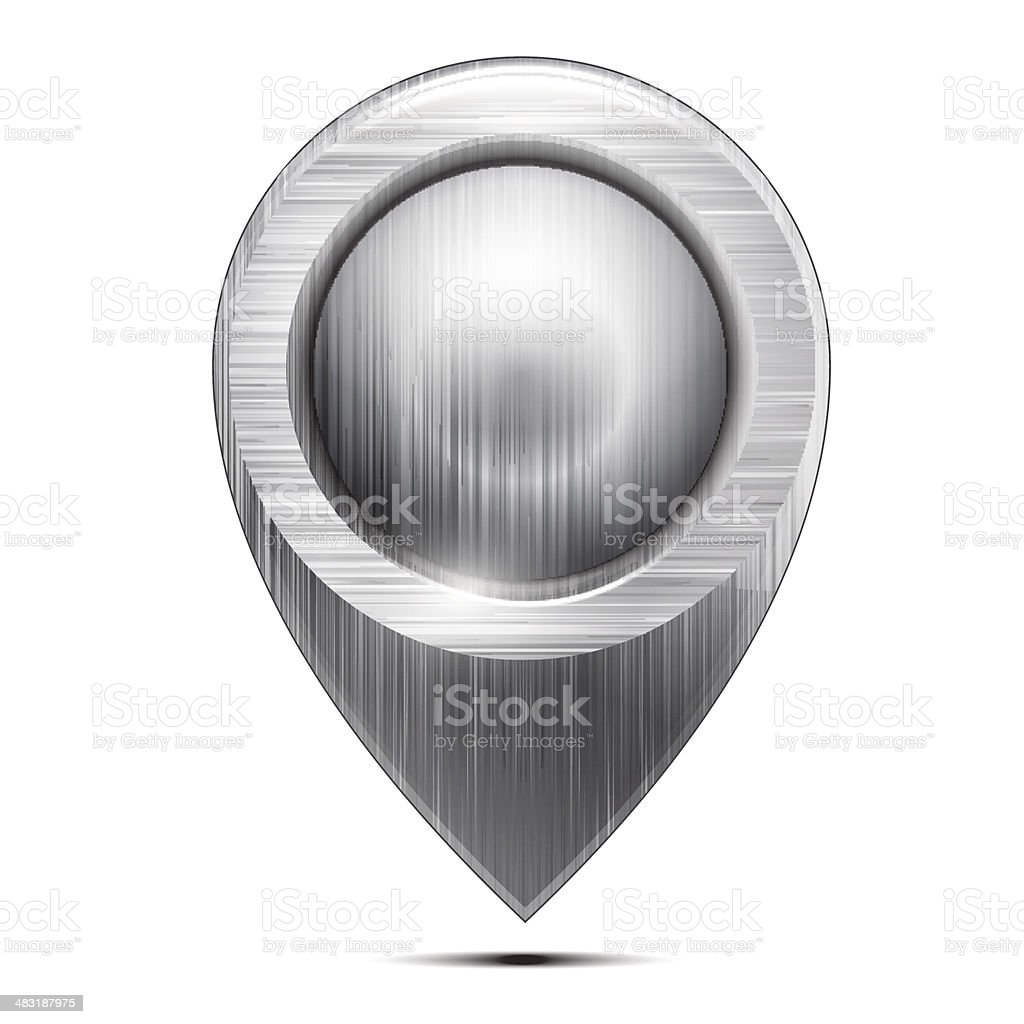 Metal  pointer isolated on a white background. Vector vector art illustration