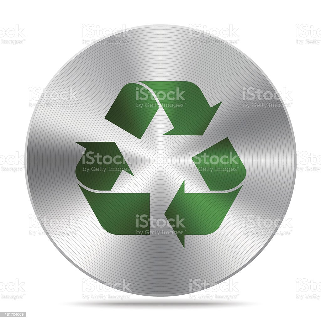 Metal Recycle symbol royalty-free stock vector art