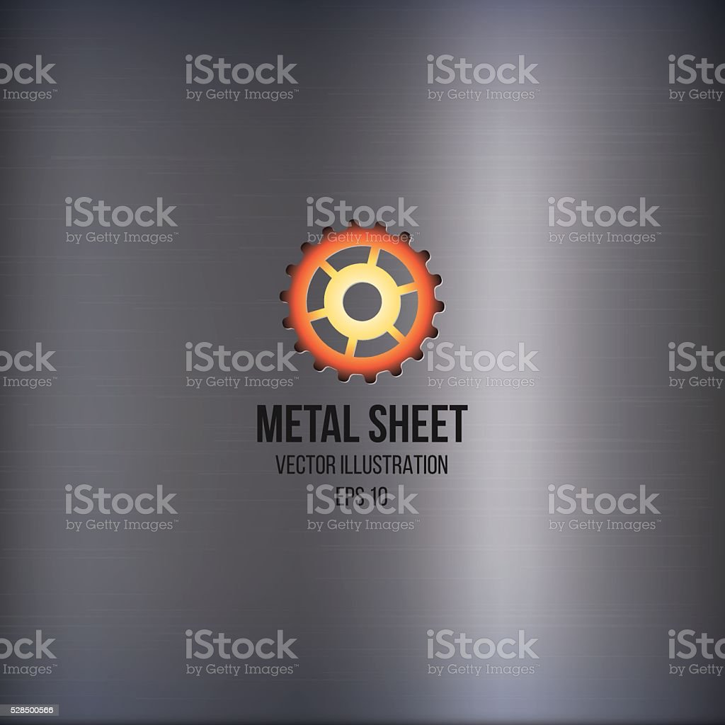 Metal sheet with logo vector art illustration