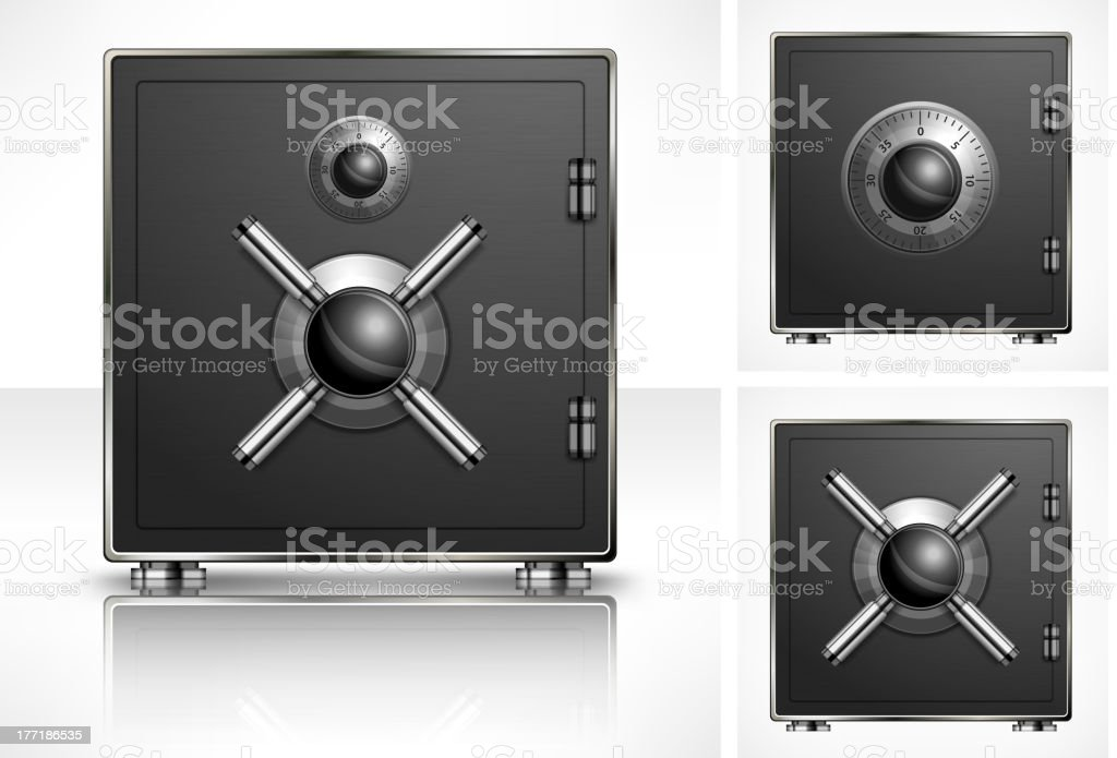 Metal square safe royalty-free stock vector art