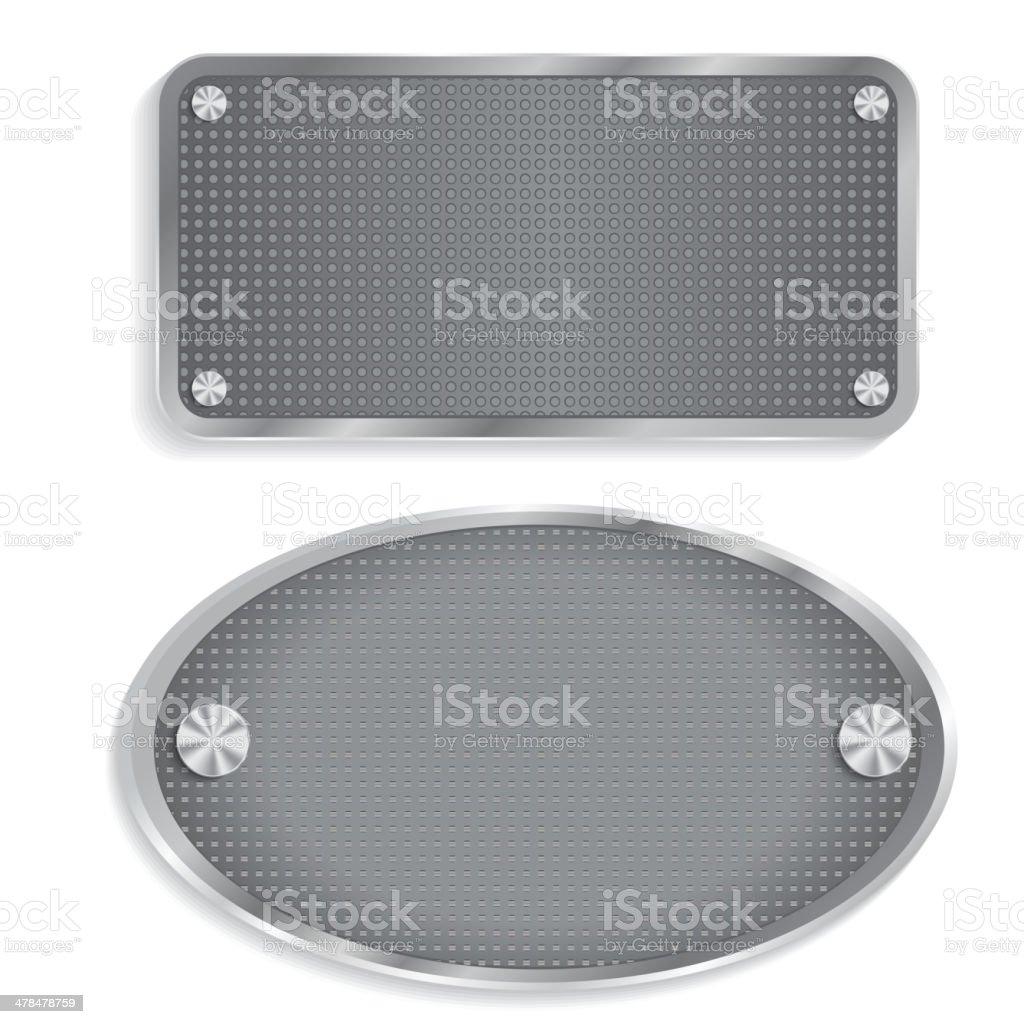 Metal steel plate royalty-free stock vector art