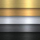 Metal Texture Set - Metallic Background