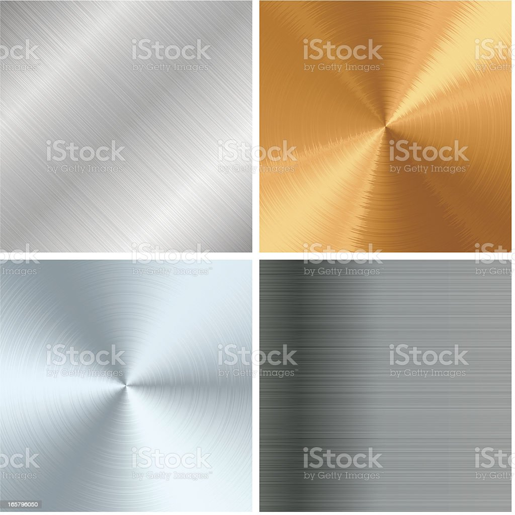 Metal texture set vector art illustration