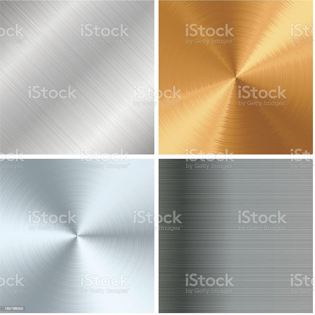 Metal texture set vector art illustration